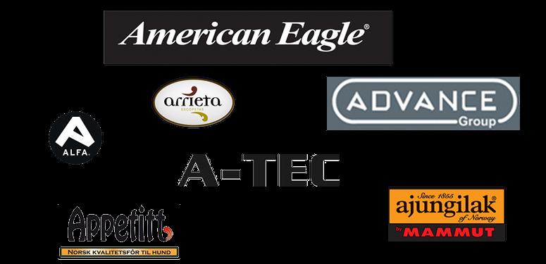 A-Tec, Ajungilak, Alfa, American Eagle, Appetitt, Arrieta