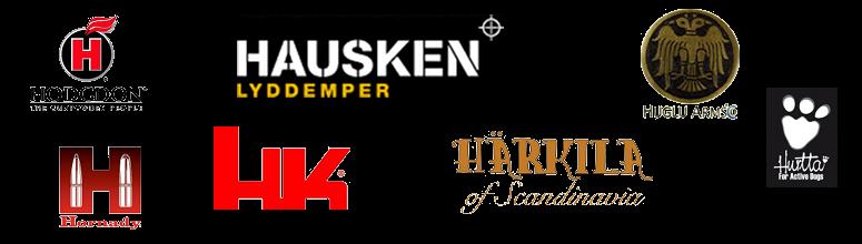 Hausken, Hawk, Heckler & Koch, Hodgdon, Hornady, Huglu, Hunter, Hurrta, Härkila