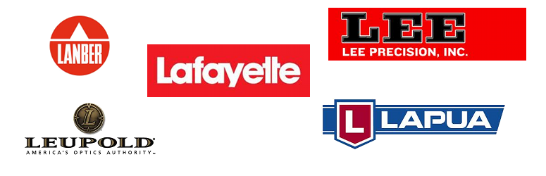 Lafayette, Lanber, Lapua, Lee, Leupold,  Lincoln